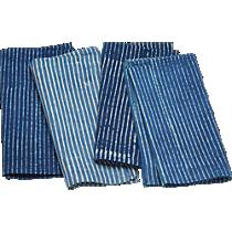 indigo stripe napkins set of four