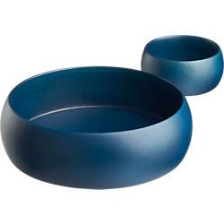 indigo wood bowls