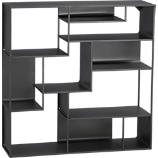 industrial metal wall mounted bookcase