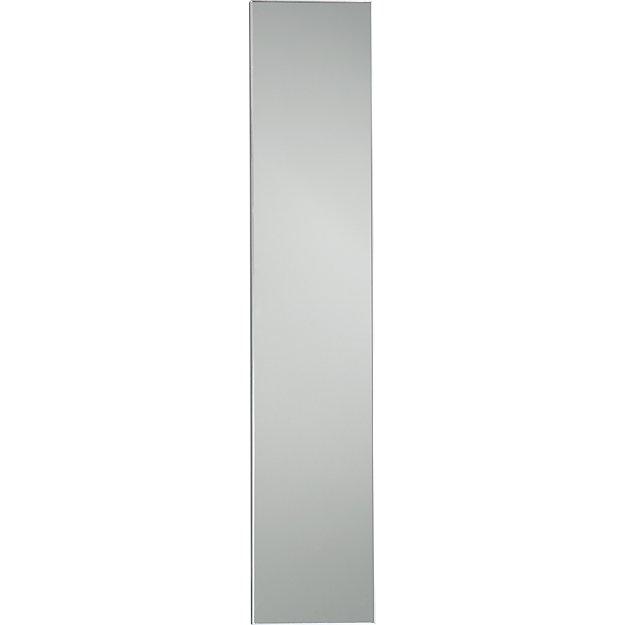 Infinity 10 5 x54 narrow wall mirror cb2 for Skinny wall mirror