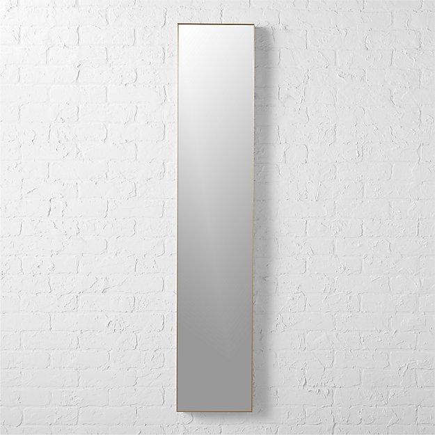 """infinity brass 10.5""""x54"""" narrow wall mirror"""