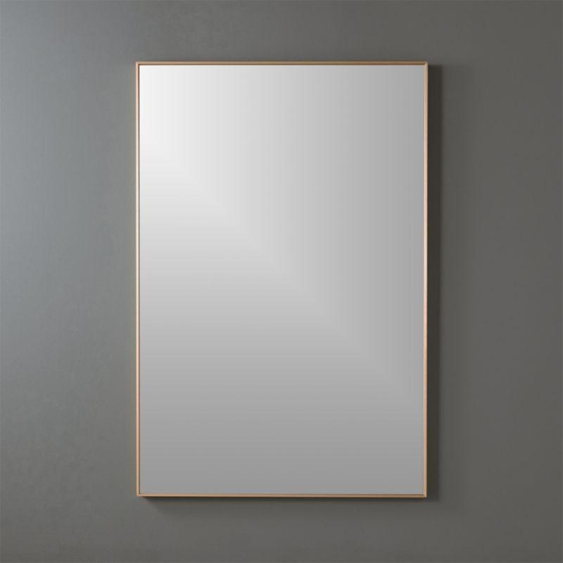 "infinity brass 24""x36"" rectangular wall mirror 