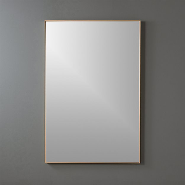"infinity brass 24""x36"" rectangular wall mirror"