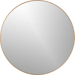 "infinity 24"" round brass wall mirror"