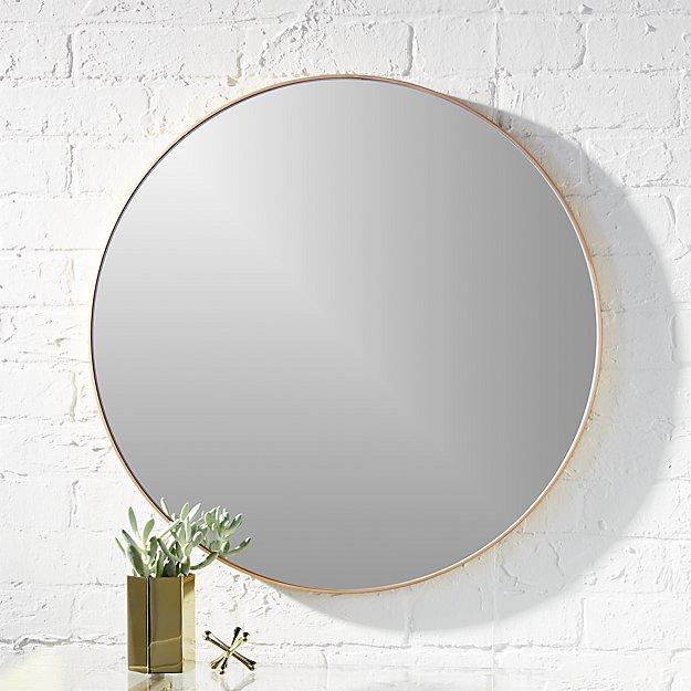 "infinity 24"" round brass wall mirror"
