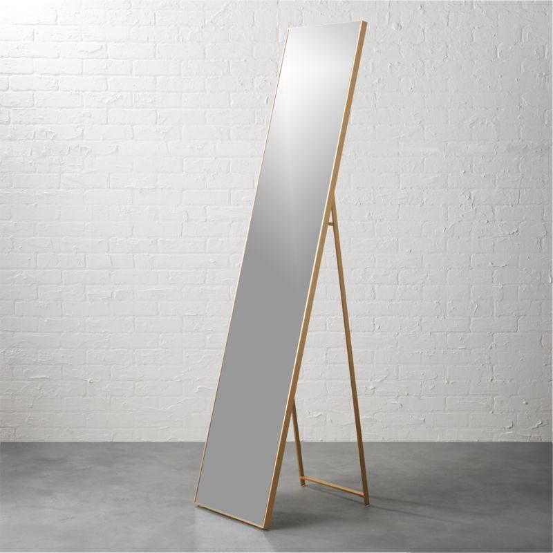 Infinity Brass 16 Quot X69 Quot Standing Mirror Cb2