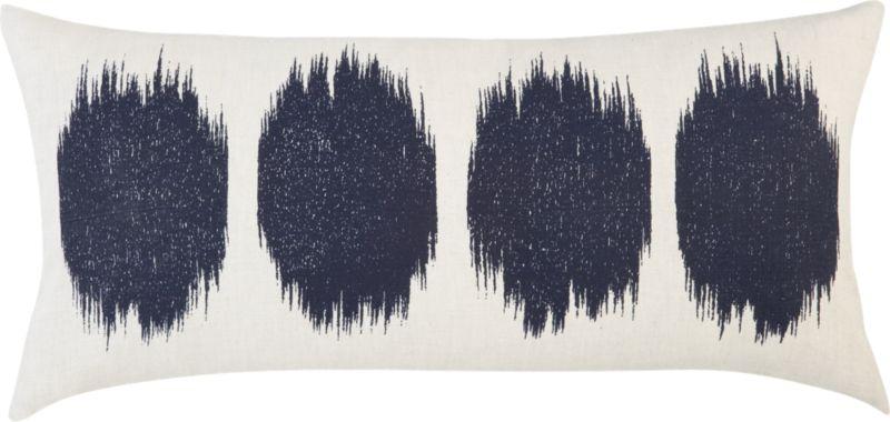 """ink blot 23""""x11"""" pillow"""
