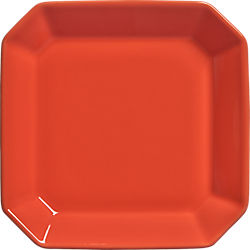 intermix orange plates set of eight