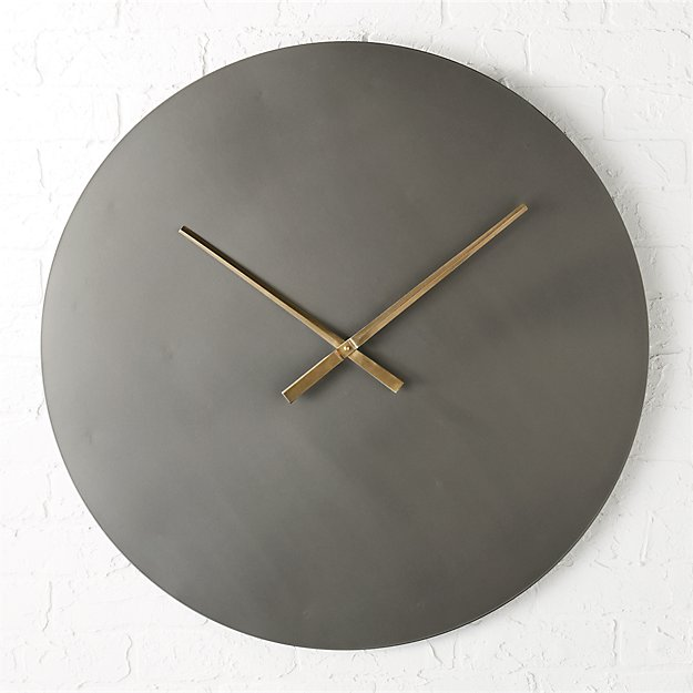 Iron Circle 30 Quot Wall Clock Cb2