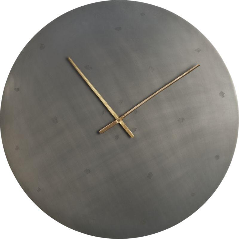 """iron circle 30"""" clock"""