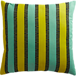 "izmir chartreuse-aqua 20"" outdoor pillow"