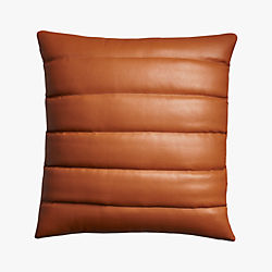 "izzy saddle leather 18"" pillow"