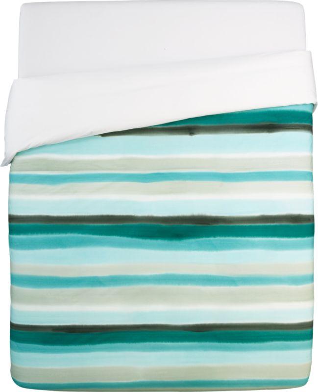 jaipur handpainted stripe full/queen duvet