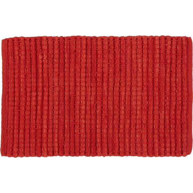 jersey cummulus brick red rug 2'x3'