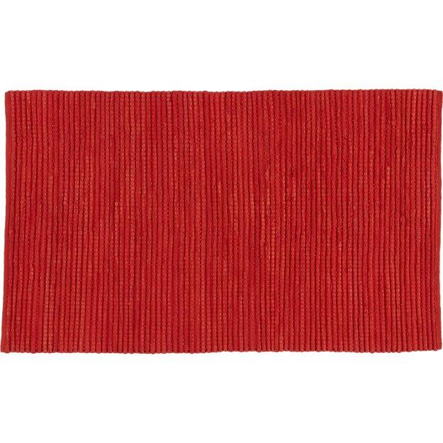 jersey cummulus brick red rug 5'x8'