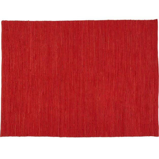jersey cummulus brick red rug 8'x10'