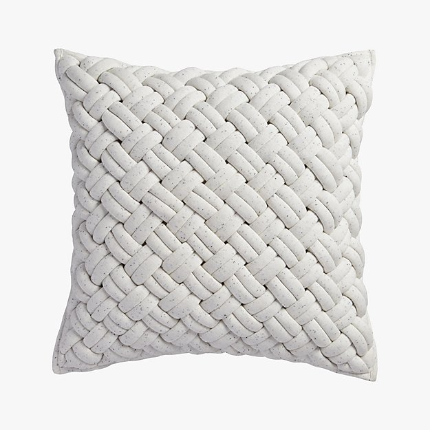 "jersey interknit ivory 20"" pillow"