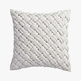 "jersey interknit ivory 20"" pillow"
