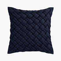 "jersey interknit navy 20"" pillow"