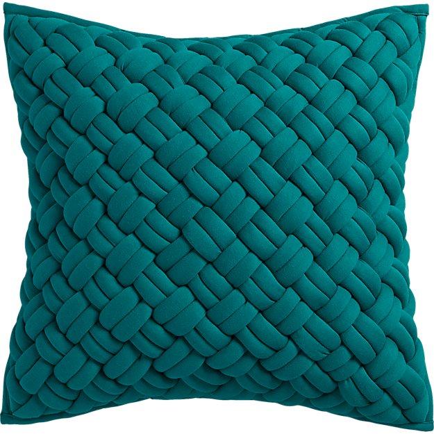 """jersey interknit green 20"""" pillow"""