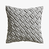"jersey interknit grey 20"" pillow"