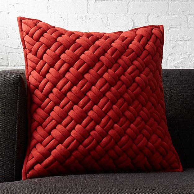 "jersey interknit wine 20"" pillow"