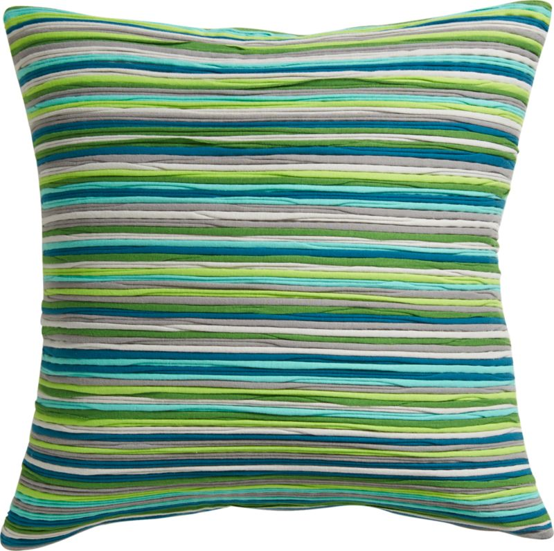 "jersey stripes 18"" pillow with feather-down insert"