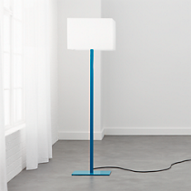 john peacock blue floor lamp