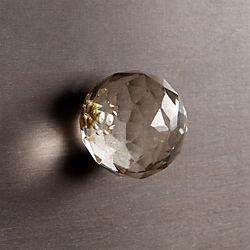 karat clear glass knob
