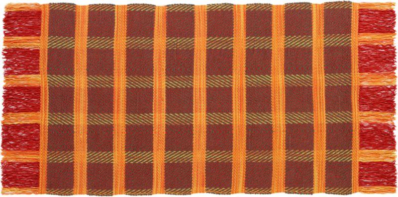 klasik plaid wool rug 5'x8'