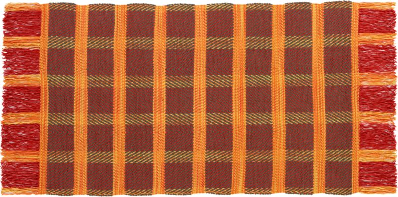 klasik plaid wool rug 5'x8'