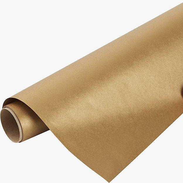 kraft-gold gift wrap