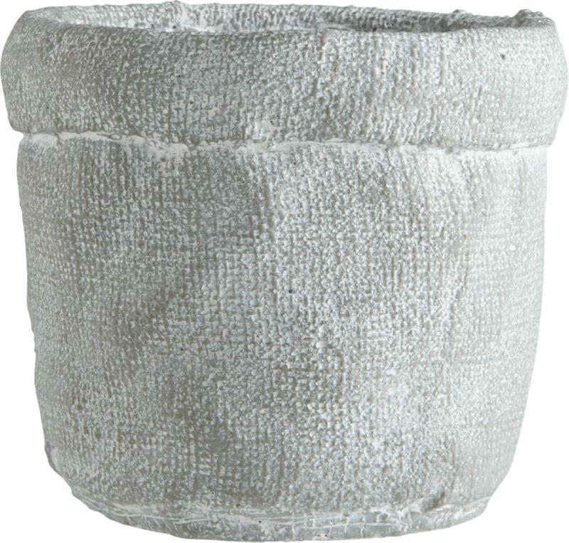 krinkled small silver grey vase
