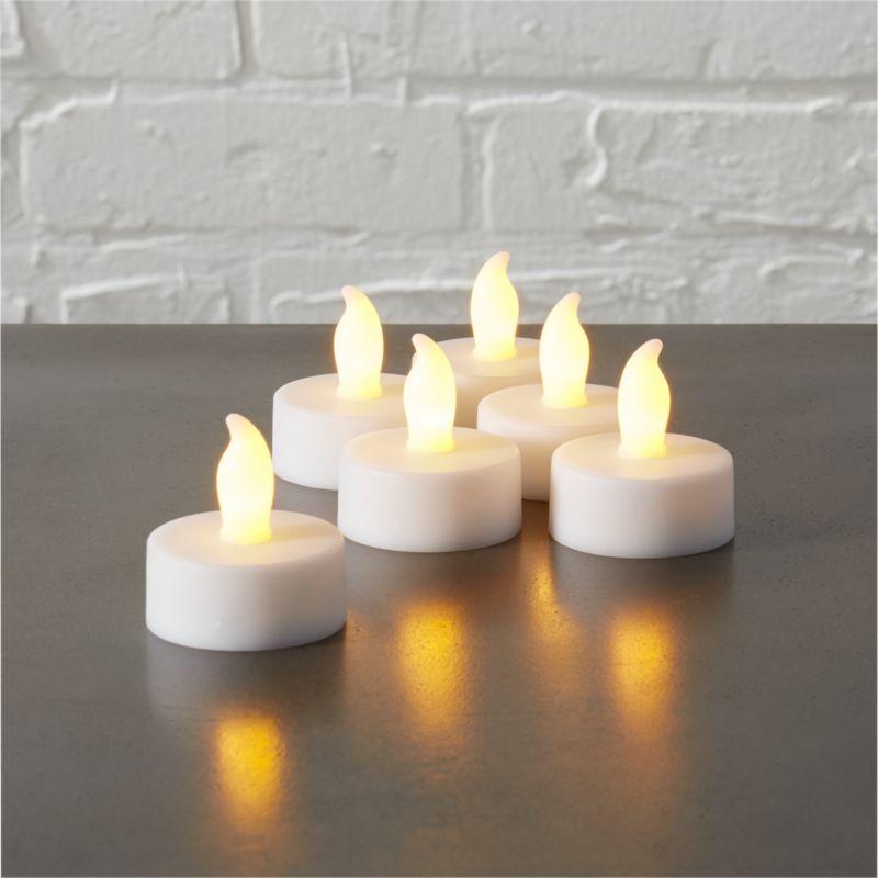 LED tea light candles set of six