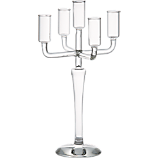 labra holds 5 taper candle holder
