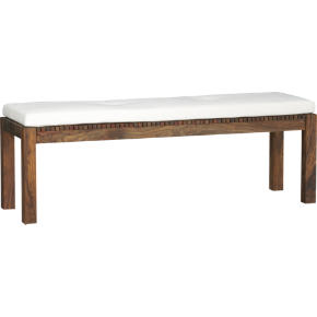lanai bench, natural cushion shopping in CB2 chairs, barstools, benches from cb2.com
