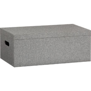 grey felt storage box