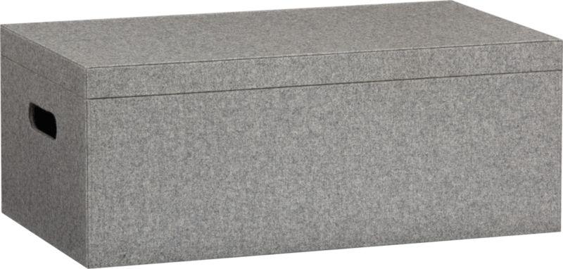 grey felt storage box