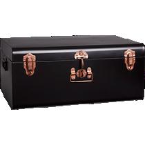large matte black suitcase