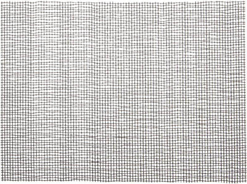 lattice black placemat