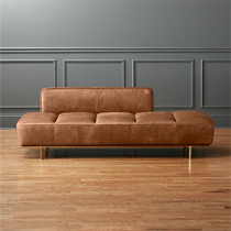 lawndale cognac leather daybed