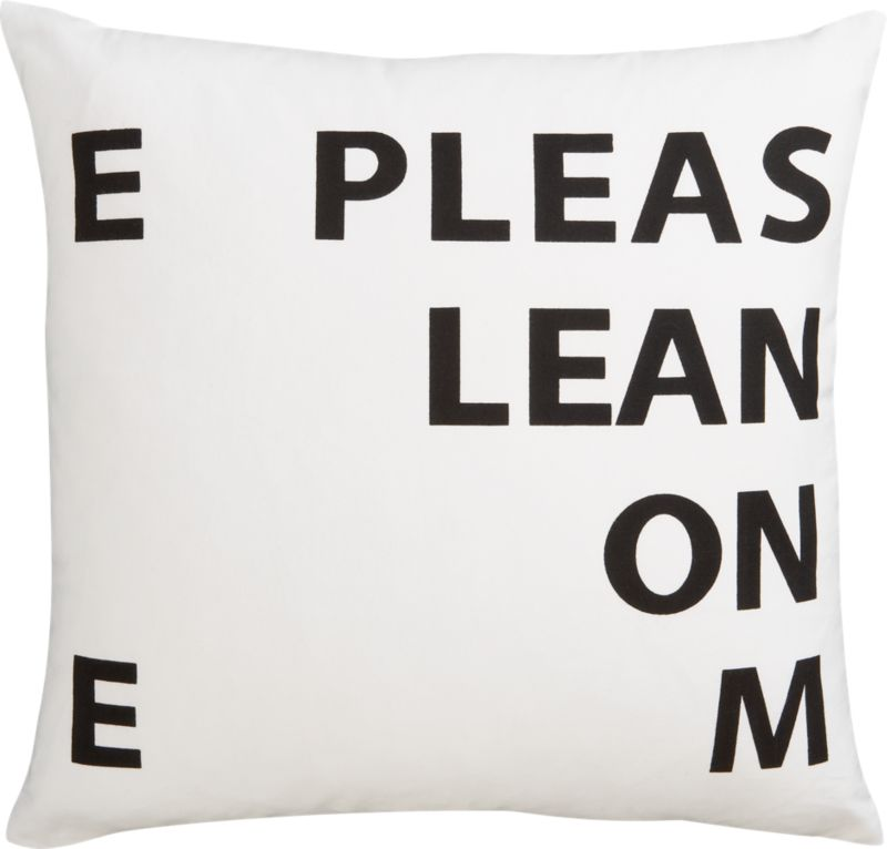 CB2 - lean on me pillow