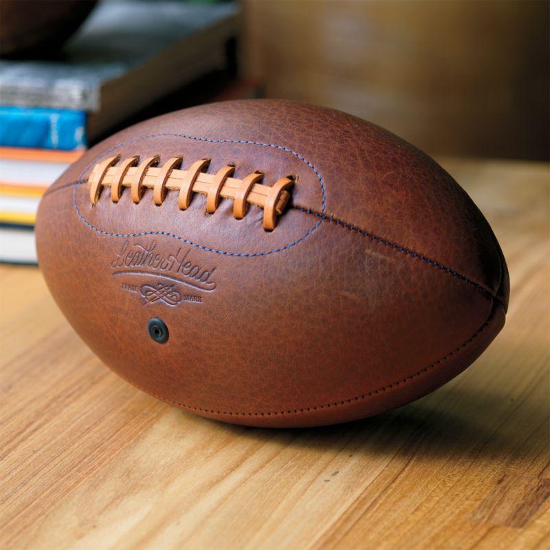 leather football