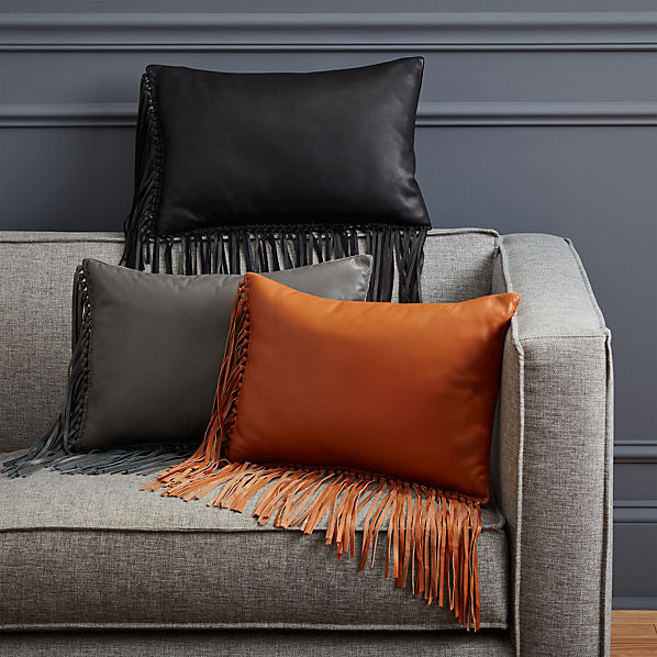 LeatherFringePillowCollectionFHF16