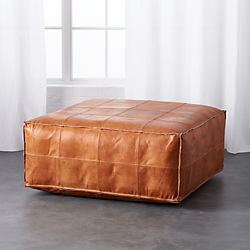 leather ottoman-pouf