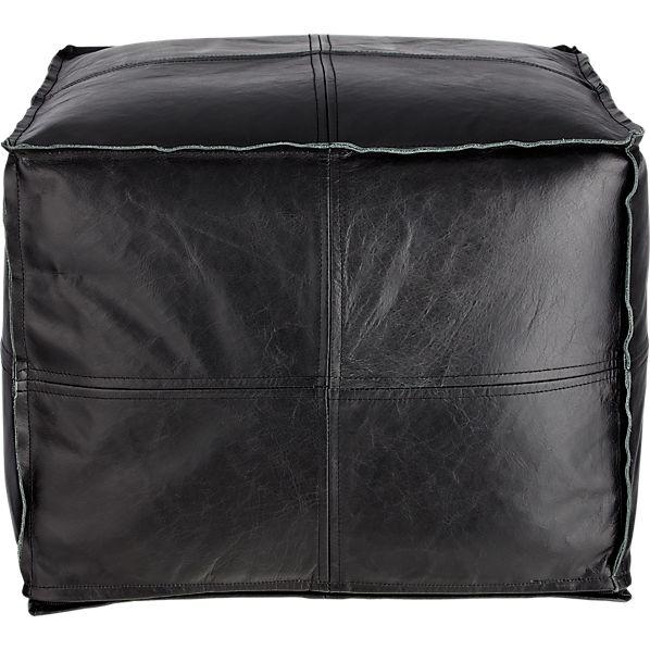 LeatherPoufBlackF16