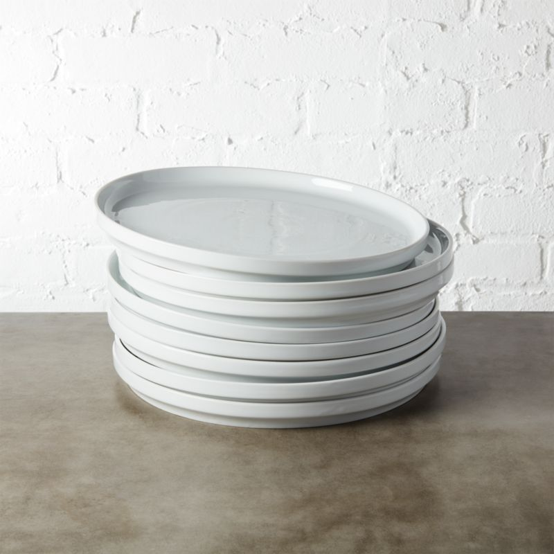 Set Of 8 Ledge Dinner Plates Cb2
