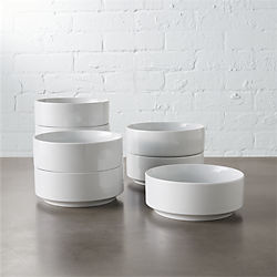 ledge soup bowls set of eight