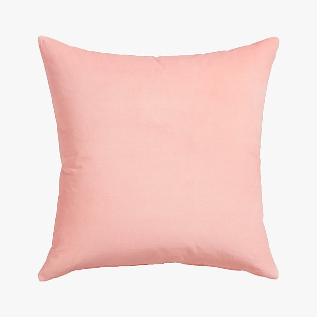 "leisure blush 23"" pillow with down-alternative insert"