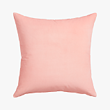 "leisure blush 23"" pillow with feather insert"